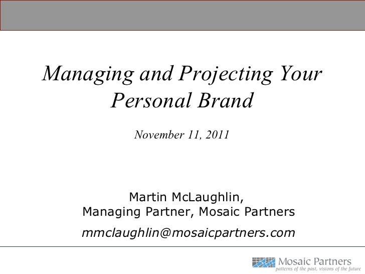 Personal Brand Conversation at Villanova's EMBA Program