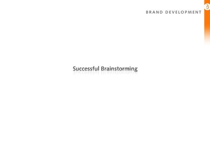 Brainstorming For Innovation