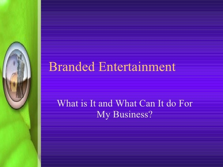 eMarketing Techniques Conference_ Branded Entertainment P2c May 2008