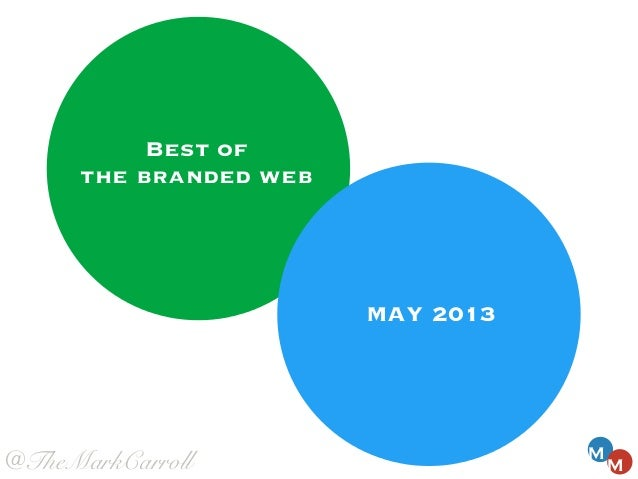 MAY 2013MMBest ofthe branded web@TheMarkCarroll