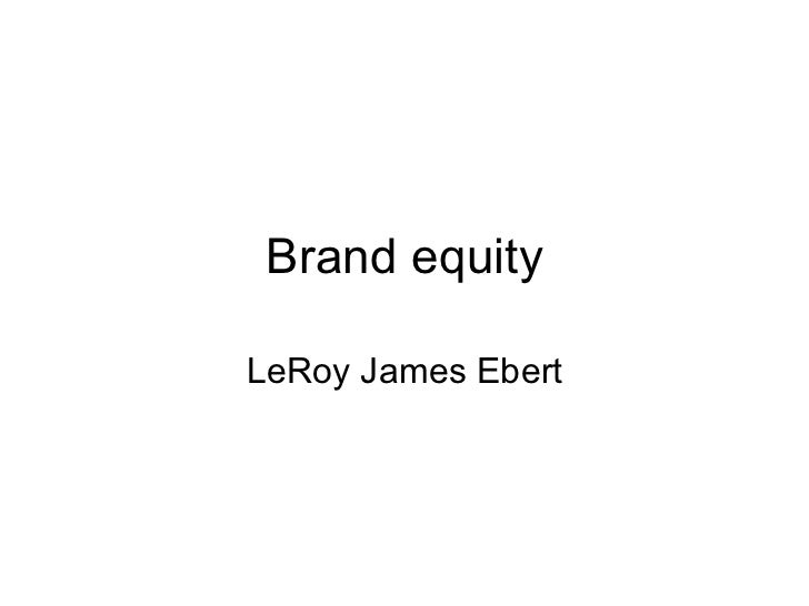 Brand Equity