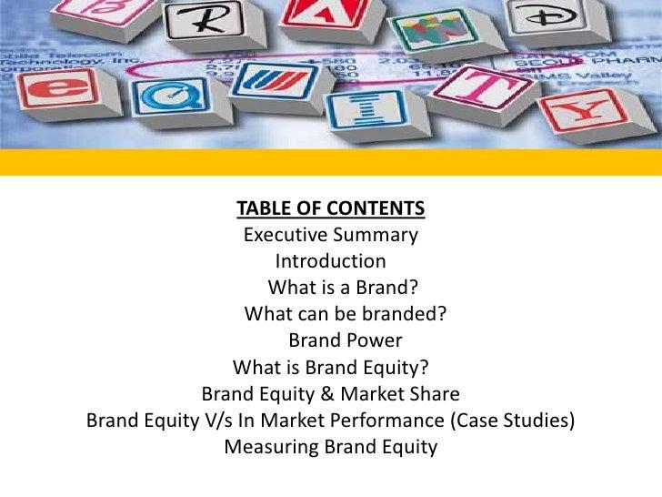 Brand equity presentation