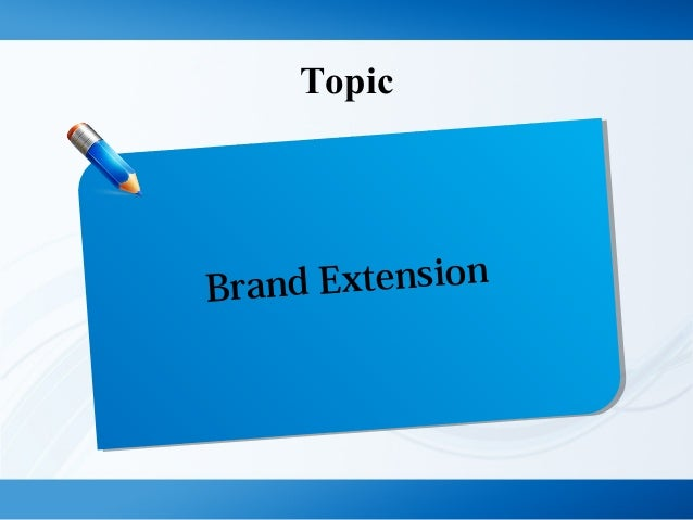 Topic Brand Extension