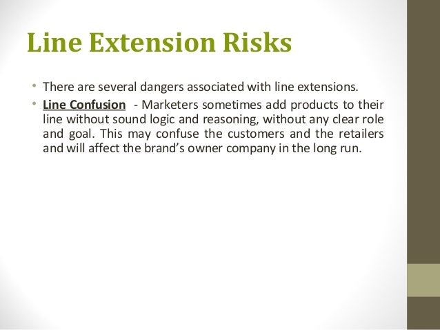 line extension and brand extension a