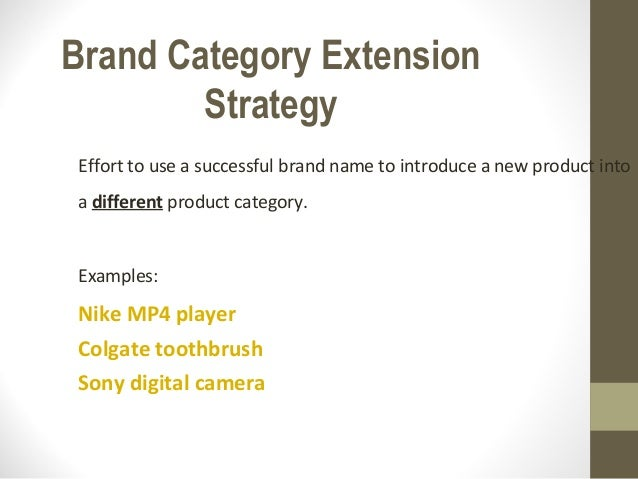 Brand Category Extension