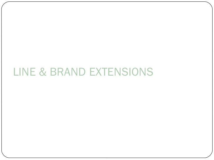 Brand extension ppt