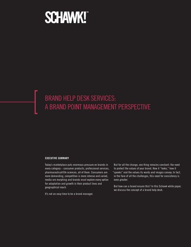 Brand help desk services