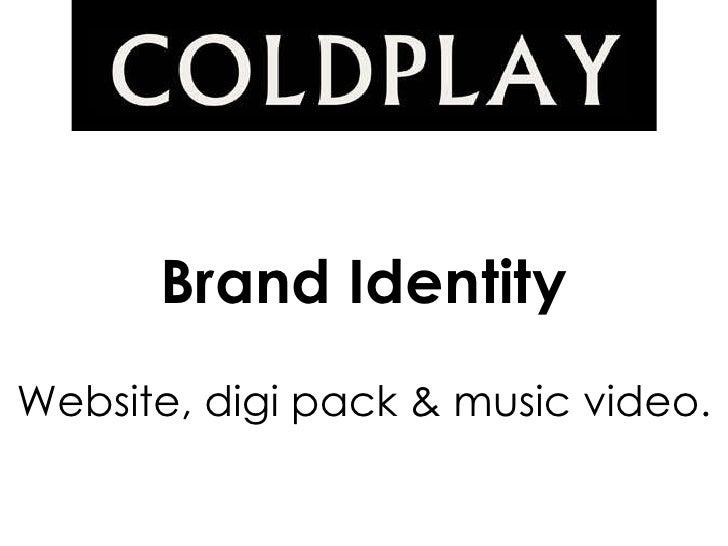 Brand identity   coldplay