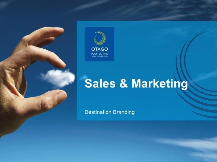 Sales & Marketing Destination Branding