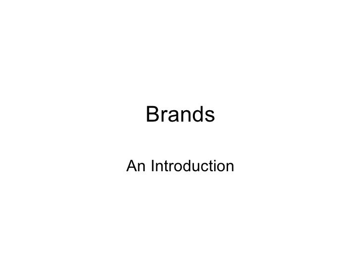 Brands An Introduction
