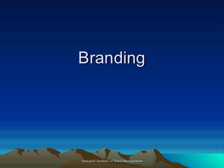 BrandingAmrapali Institute of Hotel Management   1