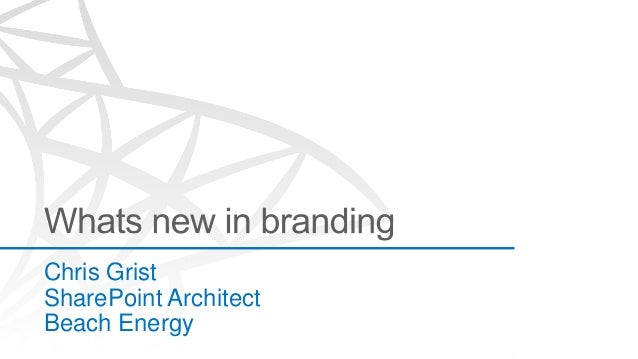 Whats New in Branding