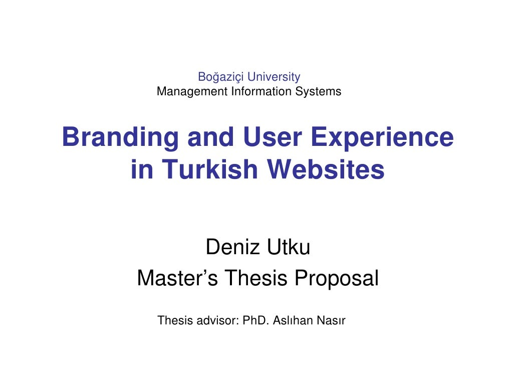Boğaziçi University       Management Information Systems    Branding and User Experience     in Turkish Websites          ...