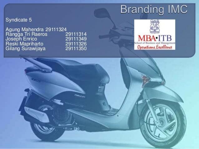 Branding IMC & segment