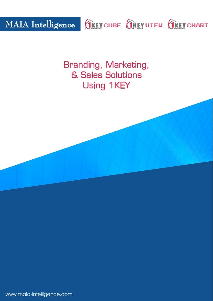 Branding  Marketing  Sales  Solution  Using 1 K E Y