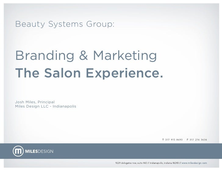Branding & Marketing the Salon Experience