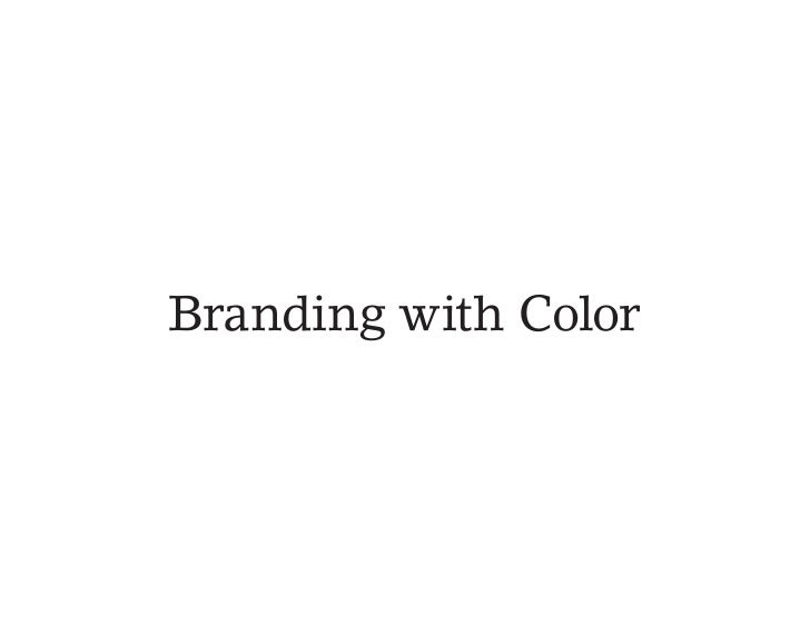 Branding With Color
