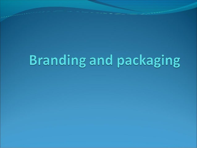 BRANDSBrands just don't exist….they are an integralpart of our lives!