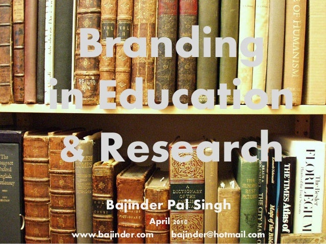 Branding in Education and Research
