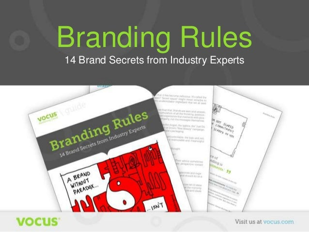 Branding Rules 14 Brand Secrets from Industry Experts