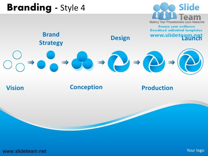 Branding strategy design launch style design 4 powerpoint presentation slides.