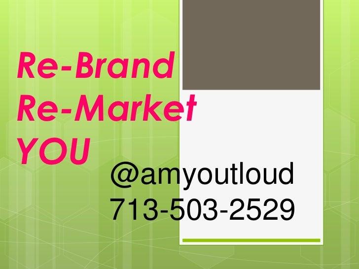 Branding without amyoutloud