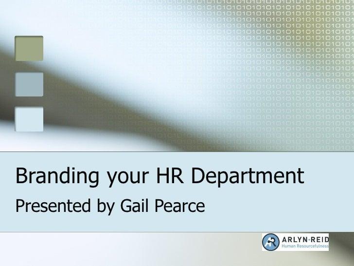 Branding Your Hr Department   V3