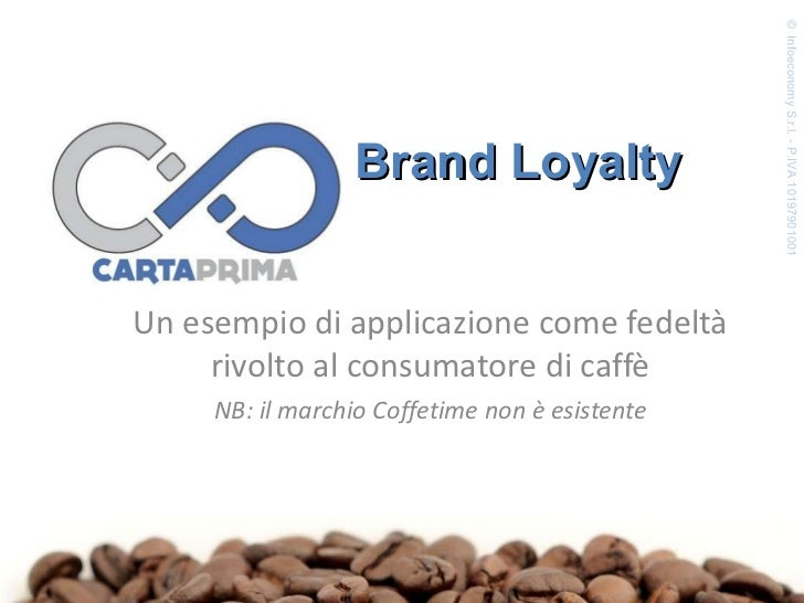 Un esempio di applicazione come fedeltà rivolto al consumatore di caffè NB: il marchio Coffetime non è esistente ©  Infoec...