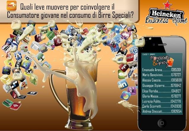Brand management - leve per coinvolgere i giovani al consumo di birre speciali