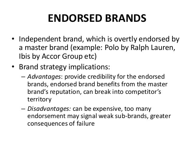 Endorsing brand strategy