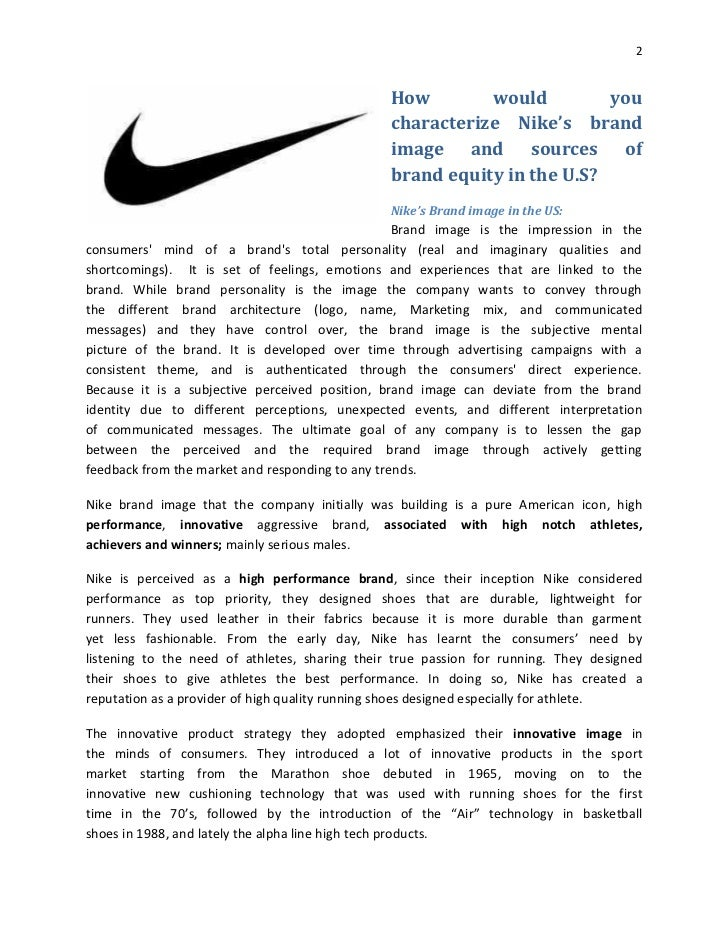 Nike Brand Analysis Research Paper
