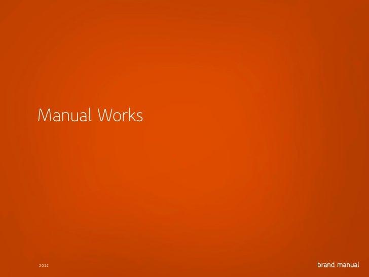Brand Manual portfolio 2012