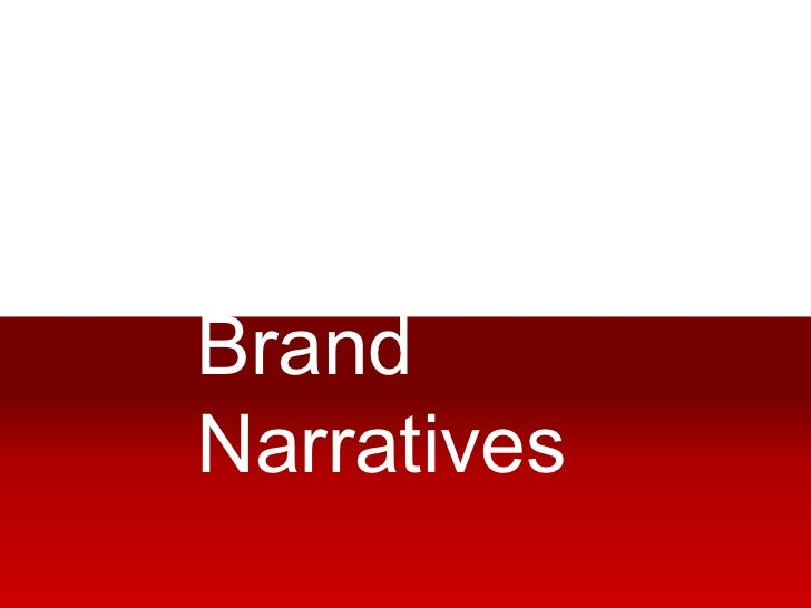 Brand narratives upload