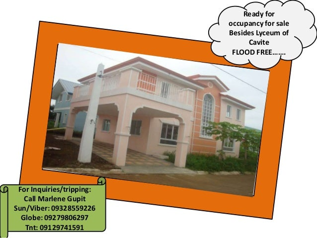 For Inquiries/tripping: Call Marlene Gupit Sun/Viber: 09328559226 Globe: 09279806297 Tnt: 09129741591 Ready for occupancy ...