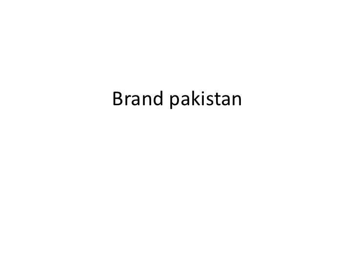 Brand pakistan<br />