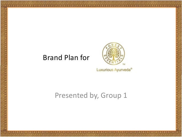 Brand plan for a SPA