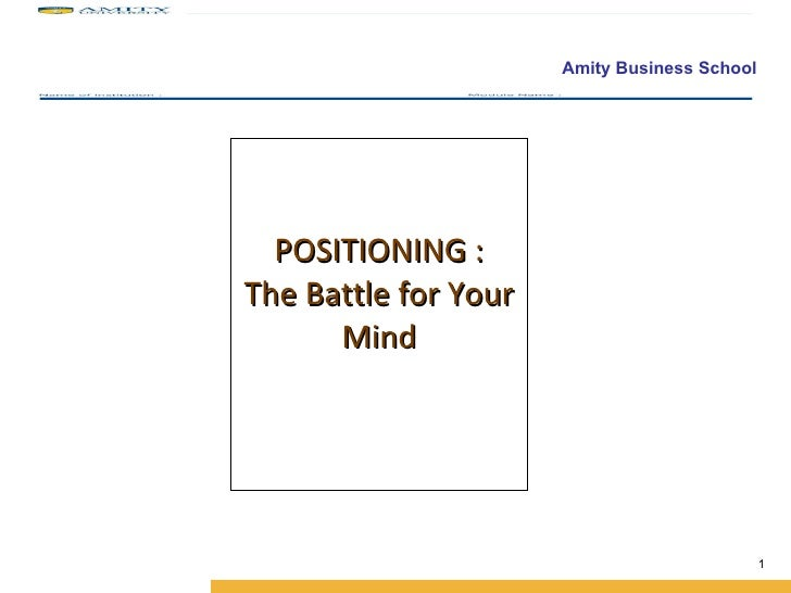 Brand Positioning Pbm