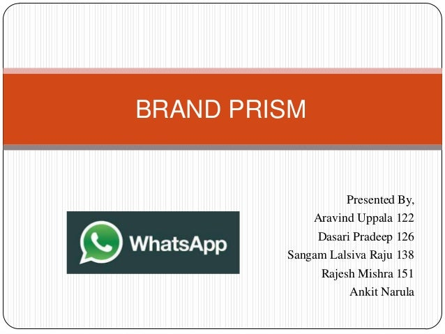 Brand prism of Whats app