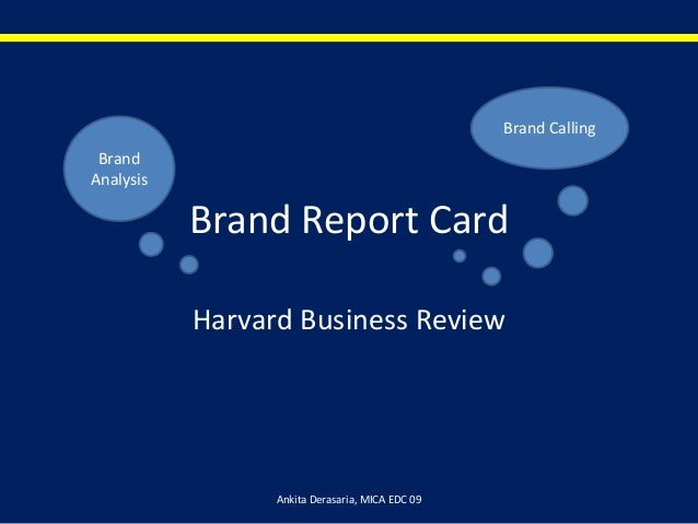 Brand report card