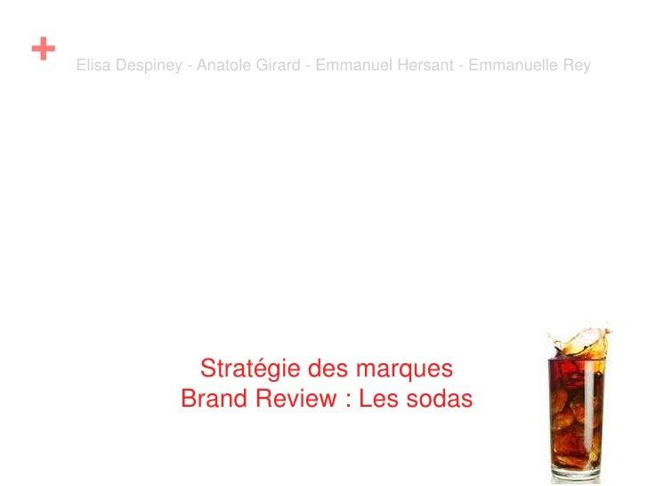 Brand review sur les sodas