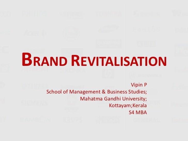 Brand revitalisation brand management