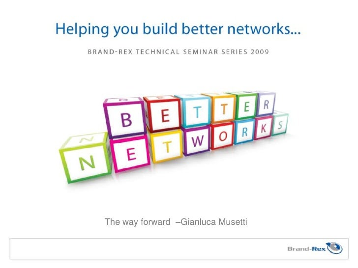 The way forward –Gianluca Musetti