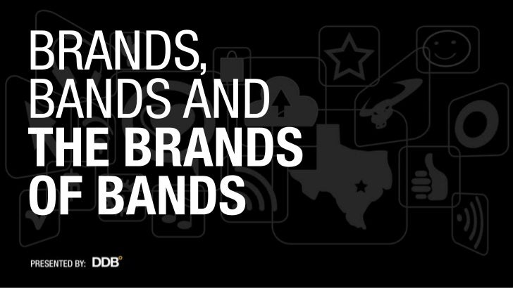 Brands, bands and the brands of bands