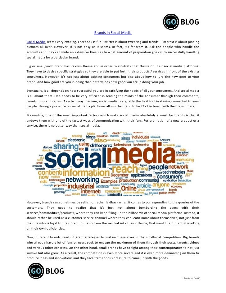 Brands in Social MediaSocial Media seems very exciting. Facebook is fun. Twitter is about tweeting and trends. Pinterest i...