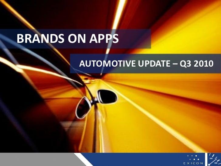Branded Apps & Automotive - Nov 2010