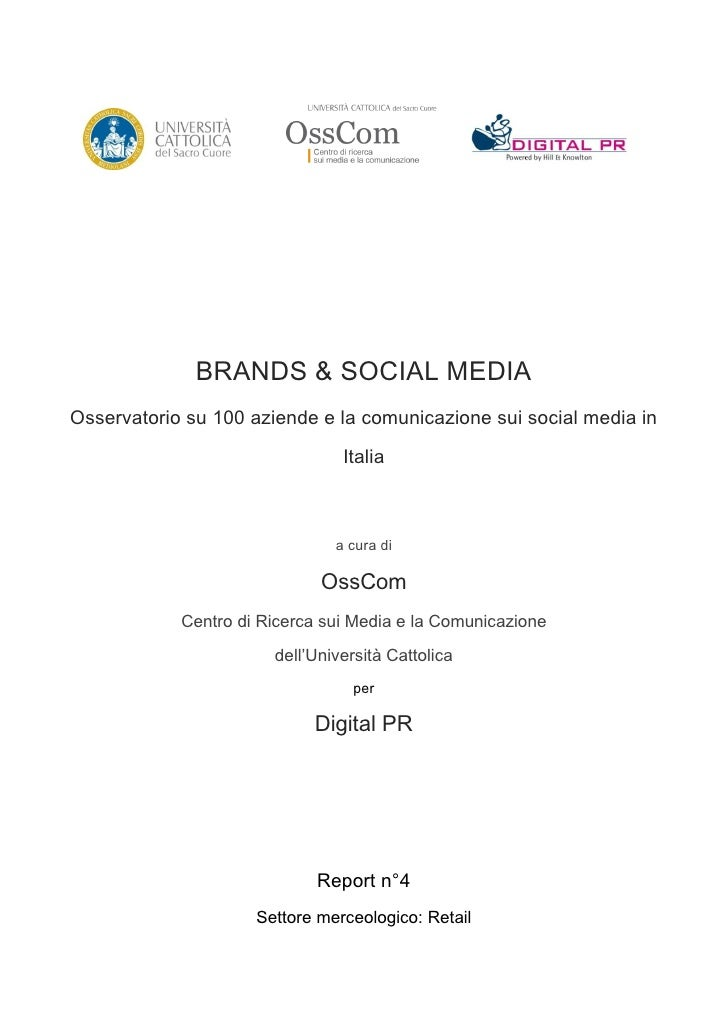 Brands & social media retail - executive summary