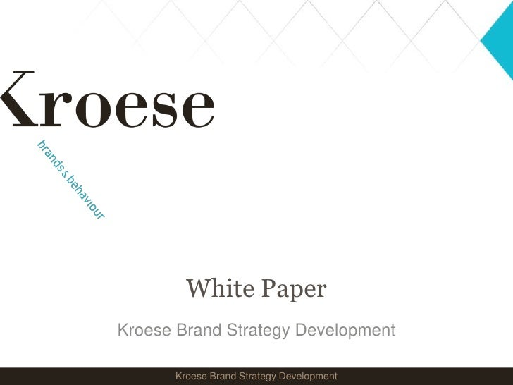 Brand Strategy Development (NL), van Kroese brands & behaviour
