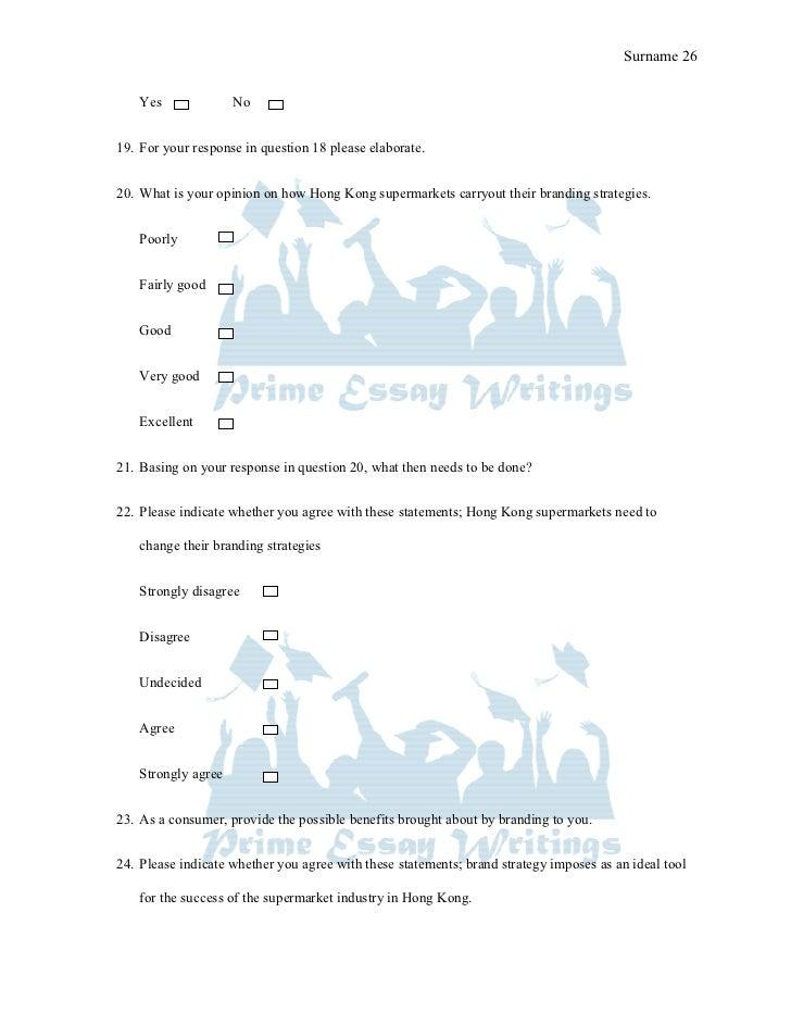 Branding dissertation questions