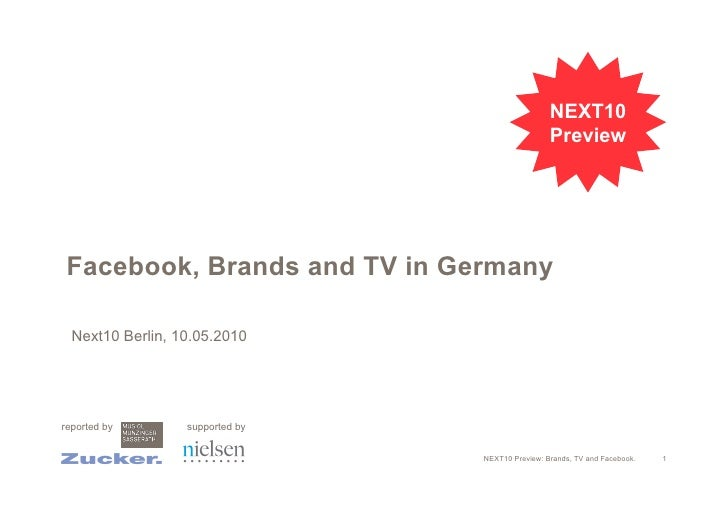 Brands, TV and Facebook Preview Next Conference 2010 Berlin