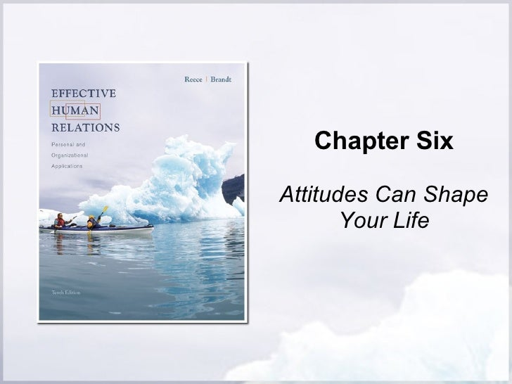 Chapter Six Attitudes Can Shape Your Life